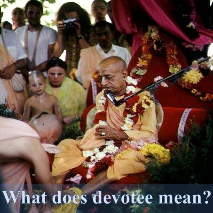 What does devotee mean?